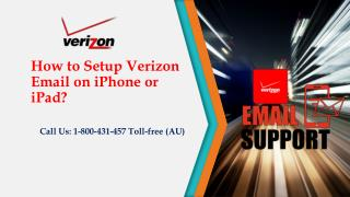 How to Setup Verizon Email on iPhone or iPad? Call 1800 431 457