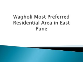 Modern Flats & Apartments in Wagholi, Residential Properties for Sale in Wagholi Pune