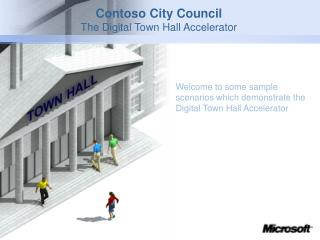 Contoso City Council The Digital Town Hall Accelerator