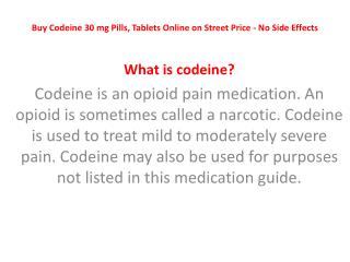 Buy Codeine 30 Mg Pills,Tablets Online NoRxonlineProducts.com