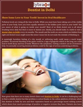 Dental Clinic in Delhi, Dentist in Delhi - Lybrate