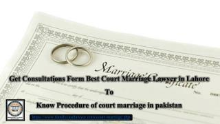 Procedure of Court marriage in pakistan