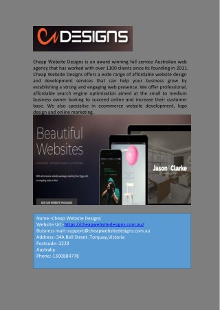 Perfect and Affordable E-commerce Website Design