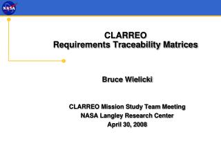 CLARREO  Requirements Traceability Matrices