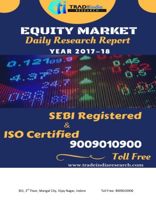 DAILY EQUITY CASH REPORT FOR 18-11-2017 BY TRADEINDIA RESEARCH