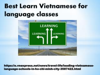 Best Learn Vietnamese for language classes