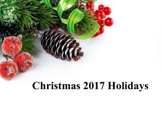 Christmas 2017 Holiday Deals