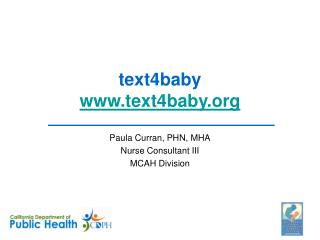 text4baby www.text4baby.org