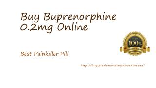 Buy Buprenorphine Online The Best Choice For Treating