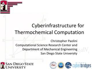 Cyberinfrastructure for Thermochemical Computation