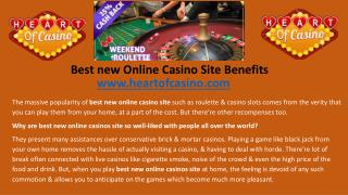 Best new Online Casino Site Benefits