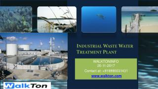 Industrial Waste Water Treatment Plant In India