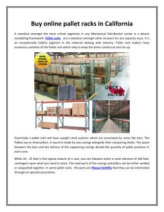 Buy online pallet racks in California