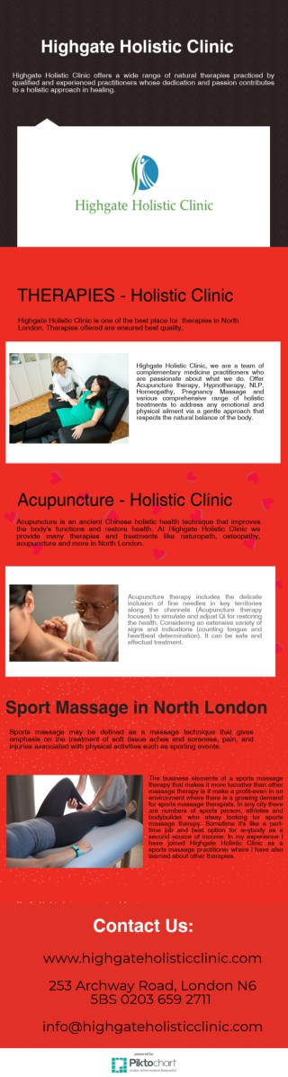 Sport Massage in North London - Highgate Holistic Clinic