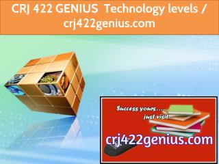CRJ 422 GENIUS Technology levels / crj422genius.com