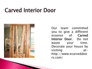 Carved Interior Door