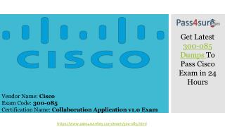 CCNP Cisco 300-085 Dumps 2017 - Real Exam Question