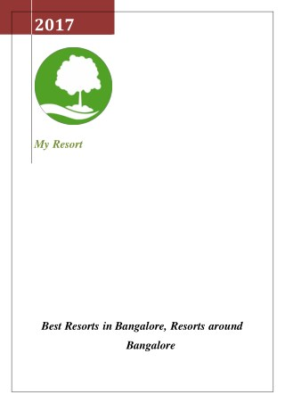 Best Resorts in Bangalore, Resorts around Bangalore