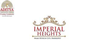 Aditya Imperial Heights in Hafeezpet Hyderabad By Aditya Construction Company