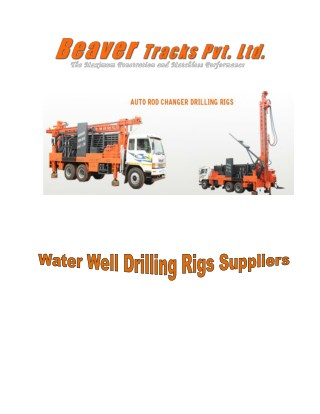 Water well drilling rigs Suppliers