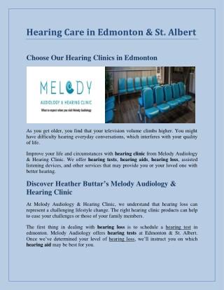 Hearing Care in Edmonton & St. Albert