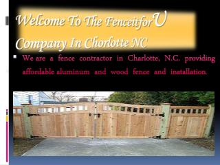 Best Fence Company in Charlotte NC