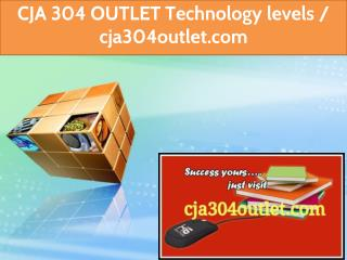 CJA 304 OUTLET Technology levels / cja304outlet.com