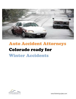 Auto accident attorneys Colorado ready for winter accidents