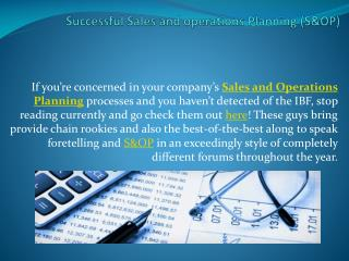 Successful Sales and operations Planning (S&OP)
