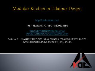 Modular Kitchen in Udaipur Design