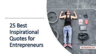 25 Best Inspirational Quotes for Entrepreneurs