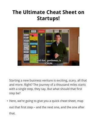 The Ultimate Cheat Sheet On Startup