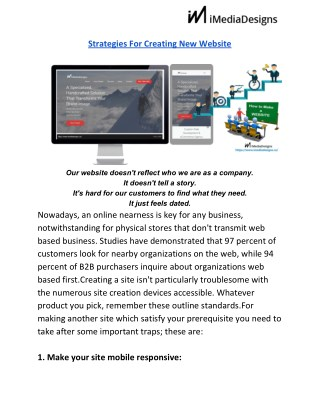 Strategies For Creating New Website