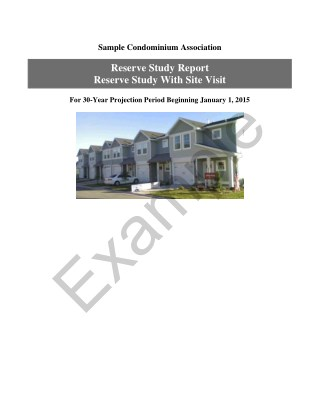 Sample Condominium Association Reserve Study Report