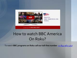 How to watch bbc america on roku?