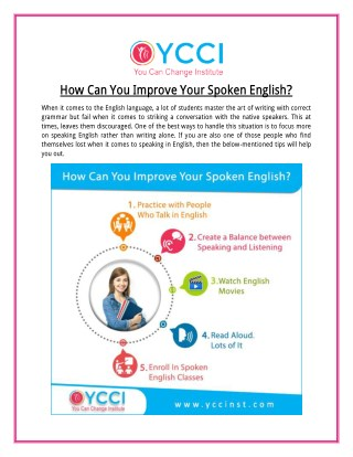 Improve your English with Spoken English Classes in Ahmedabad