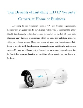 benefits of ip cameras Benefits of wireless ip security cameras protecting your home with a surveillance security camera system is an important part of planning your home security system.