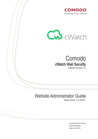 Domain Administrator Guide - Comodo cWatch