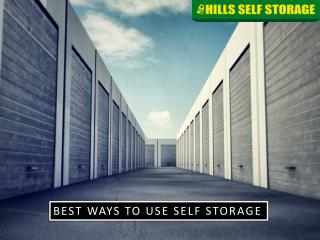 Self Storage Unit - How To Use Them