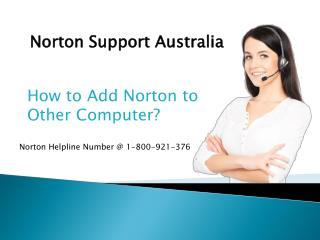 How to Add Norton to Other Computer?