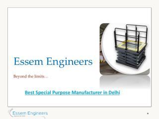 Leading Special Purpose Machine Manufacturer in Delhi