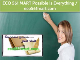 ECO 561 MART  Possible Is Everything  /  eco561mart.com