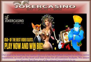 Online Casino, Casino Bonus, Joker Casino