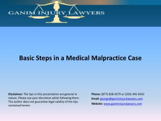 Basic Steps in a Medical Malpractice Case