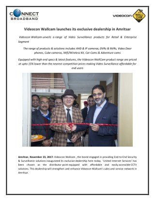 VideoconWallcamlaunches its exclusive dealership in Amritsar