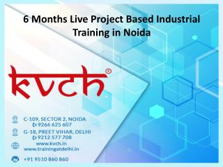 6 months industrial training in noida with live projects
