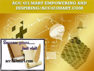 ACC 423 MART Possible Is Everything / acc423mart.com