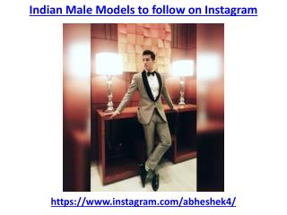 Best indian male models to follow on instagram