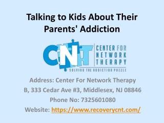 Talking to Kids About Their Parents' Addiction