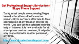 Get Professional Support Service from Skype Phone Support